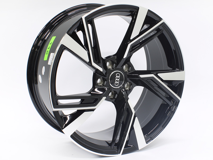 19″ QS S4 Style 5/112 Black machined Face Alloy Wheels