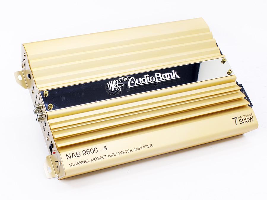 AudioBank Gold Series 9600w 4channel Amplifier